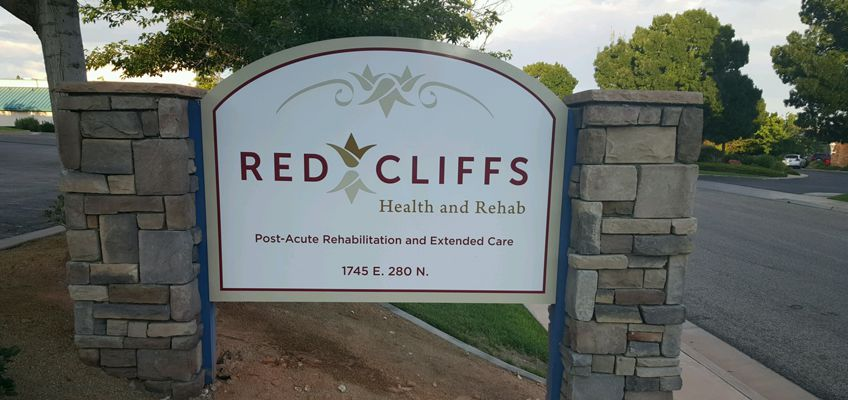 red cliffs signage