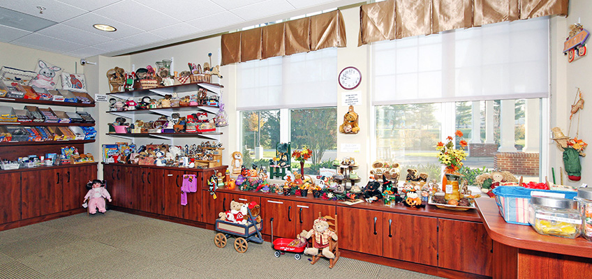 Gift shop for residents with several items to purchase