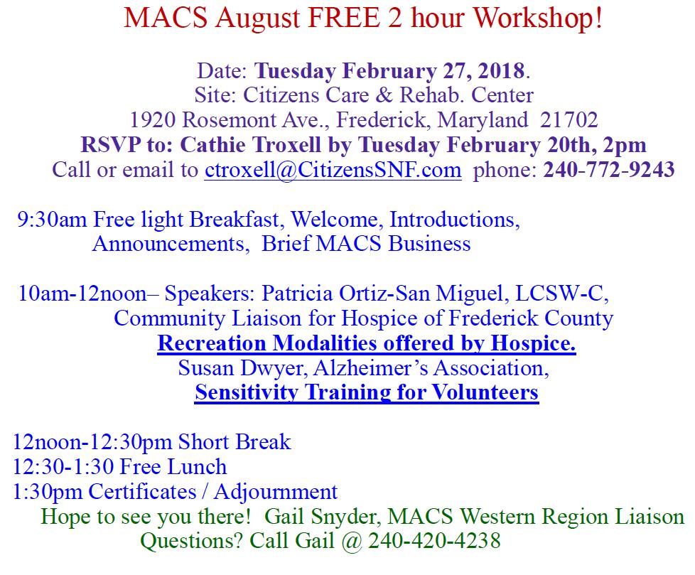 MACS flyer