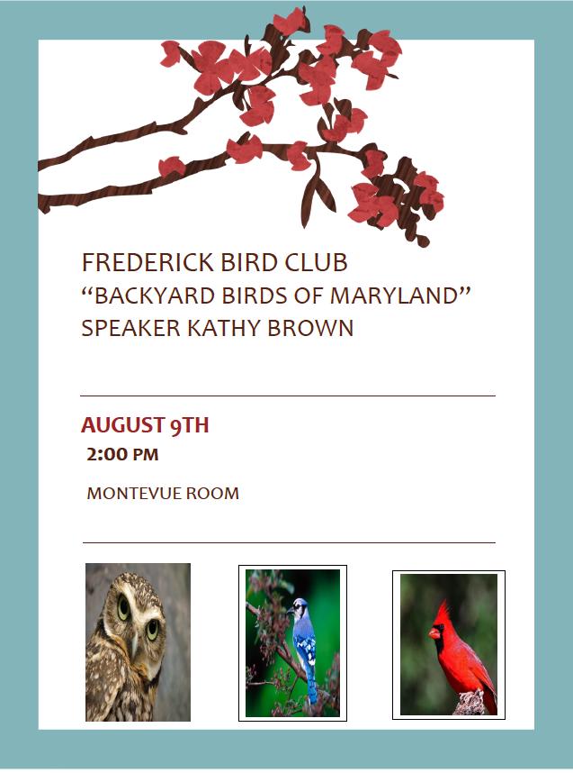 Bird Club August 9th
