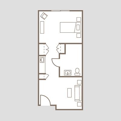 Coronado Heights Unit A One Bedroom deluxe suite
