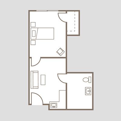 Coronado Heights Unit B One bedroom suite