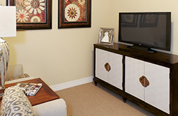 credenza with tv