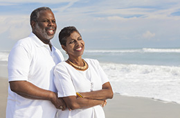 african american couple on the beach