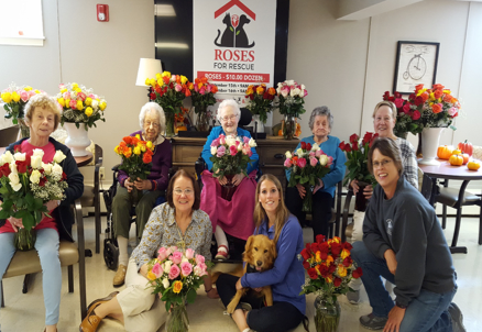 Quaboag Rehabilitation and Skilled Care Center, Activity Director Susan Chiasson and residents