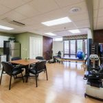 rehab gym with a kitchenette