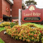 close up view of Laurel Ridge exterior sign