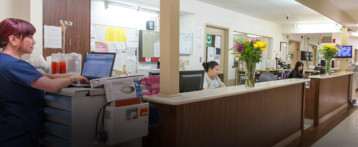 Pacific Palms nurses station