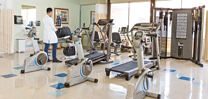 Pacific Palms exercise room