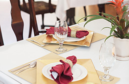 nice table setting on a dining table