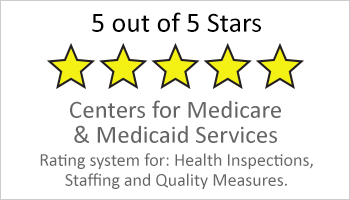 5-star rating for medicare and medicaid services button