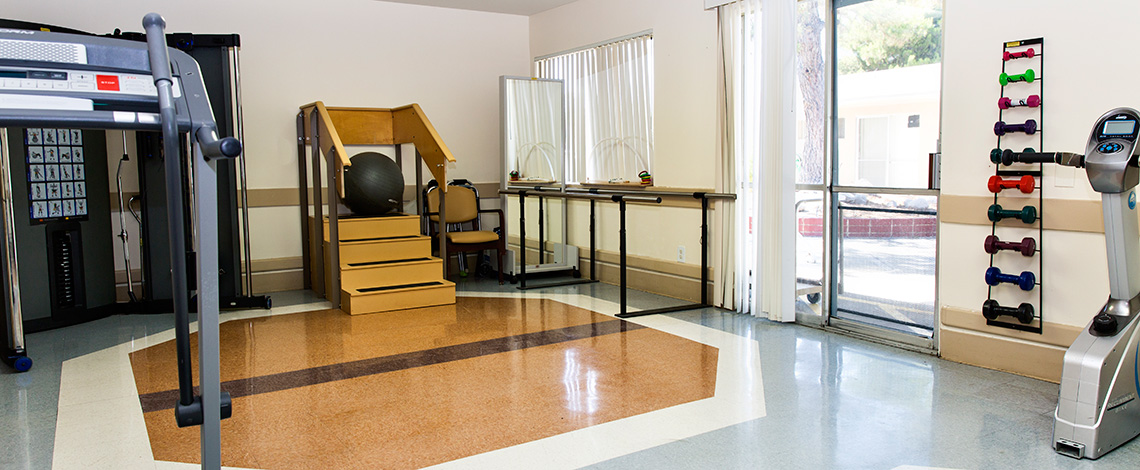 Physical therapy equipment at Banning Healthcare