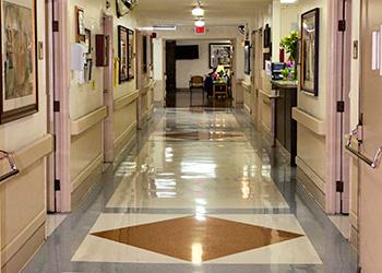 long clean hallway