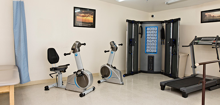 exercise and rehabilitation room