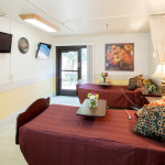 double occupancy resident room with TV