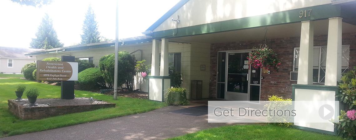Americana Health and Rehabilitation Center front entrance