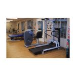 Rehabilitation gym with equipment for resident use