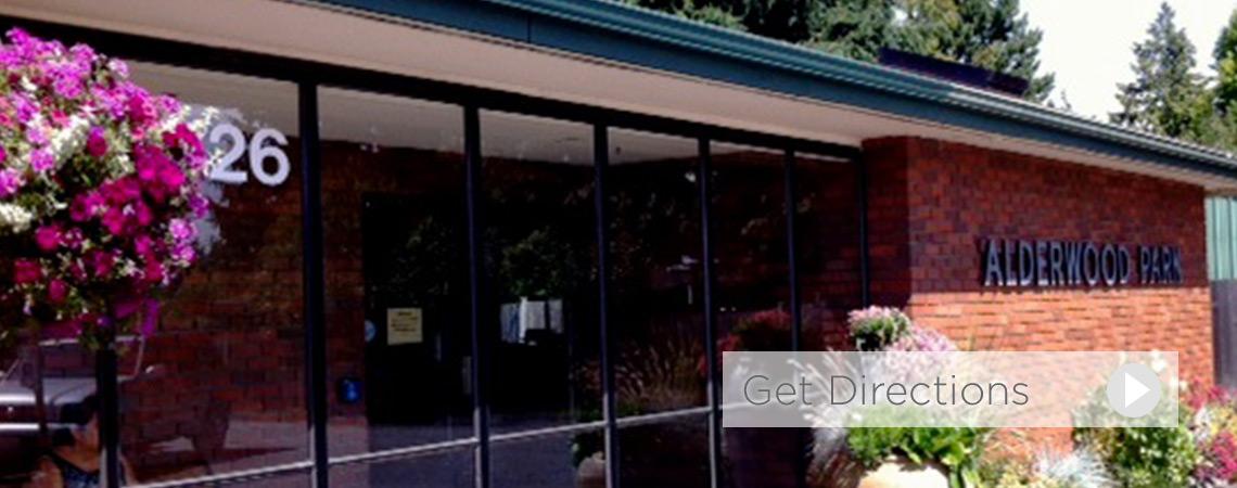 Alderwood Park Health and Rehab front entrance
