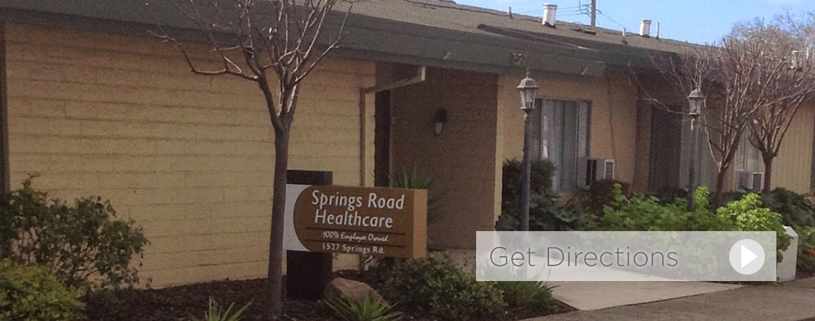 Springs Road Healthcare exterior sign