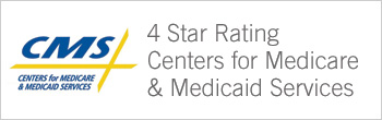 CMS 4-star rating Centers for Medicare and Medicaid services button