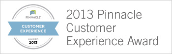 Pinnacle-2013 Pinnacle Customer Experience Award