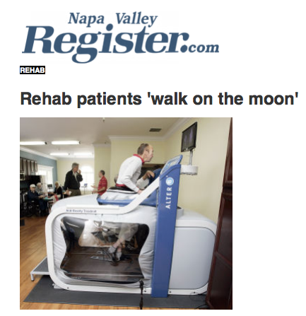 Rehab News about our Alter G equipment