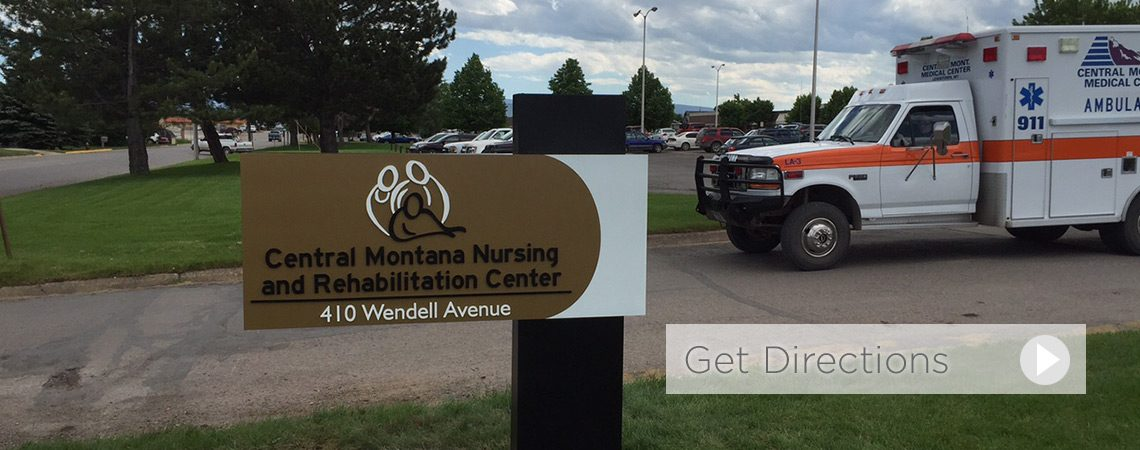 Central Montana Nursing and Rehab exterior sign