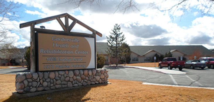 gardnerville health and rehab facility outdoor signage on a sunny day