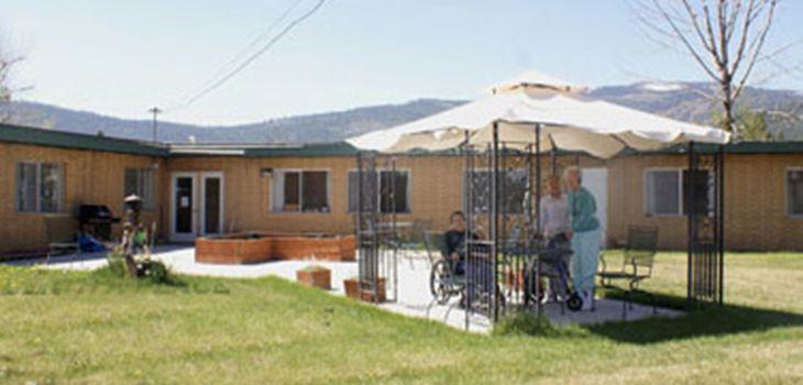 Hot Springs residents enjoying the beautiful scenery outside under the covered gazebo