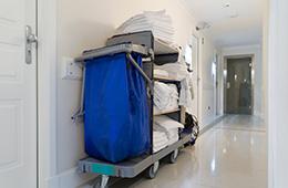 rolling housekeeping cart