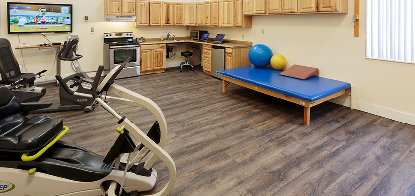 exercise bikes in rehabilitation room