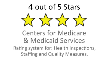4 out of 5 star Medicare rating