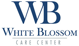 white blossom care center logo