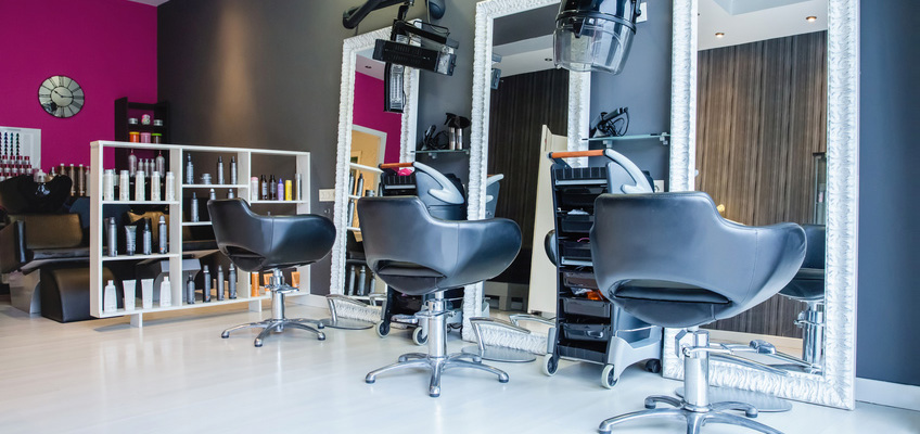 3 stylist chairs in salon