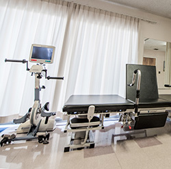 therapy room with modern equipment