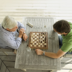 two men playing a game of chess