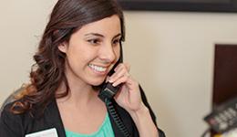 staff member on phone