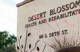 desert blossom outdoor sign