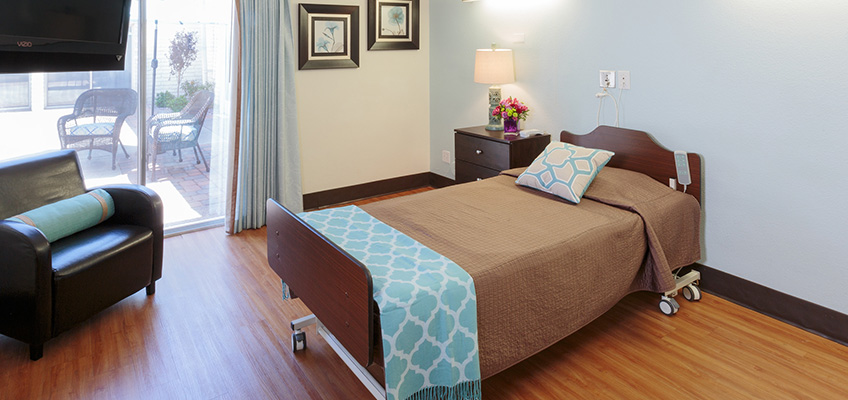 single occupancy resident room with patio