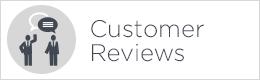 customer reviews button white