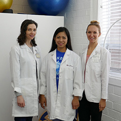 Three rehabilitation staff members from Sunray
