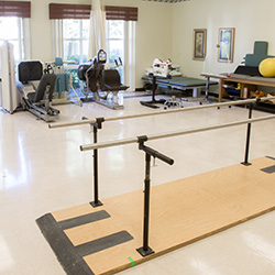 Therapy room with equipment nicely organized