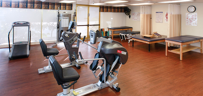 Rehab room with equipment
