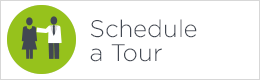 schedule a tour button green and white