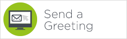 Send a greeting button green and white