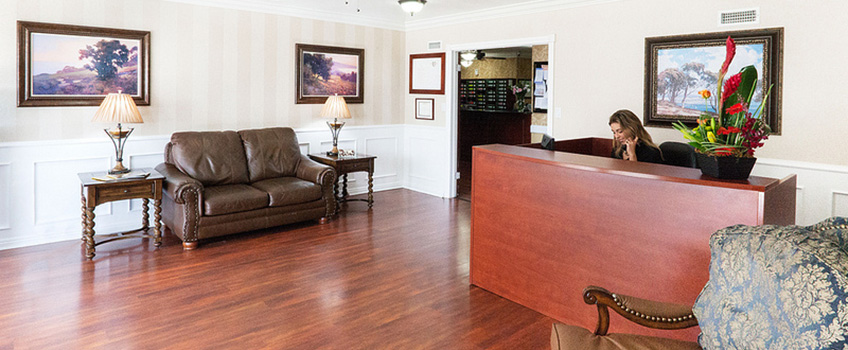 lobby with a hardwood flooring and fine seating