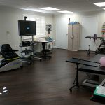 exercise equipment in the therapy room