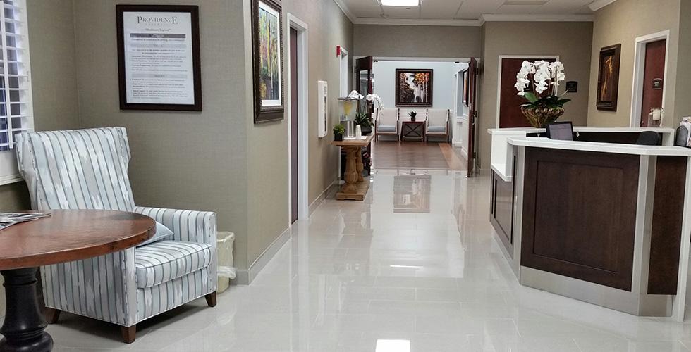 lobby and nurses station