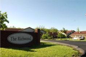 Richwood outside sign made of brick