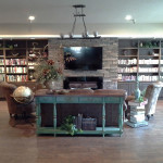RHF Gold Country recreation room with flat screen TV and a library of books